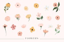 Ava Floral - Botanical Set by  in Illustrations