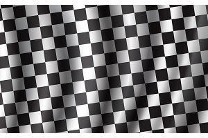 Racing checkered vector flag