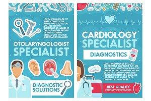 Cardiology and otolaryngology