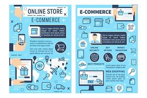 Online store e-commerce, shopping