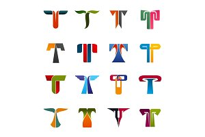 Business company identity T icons
