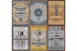 Vector car repair service