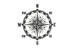Vector vintage navigation compass