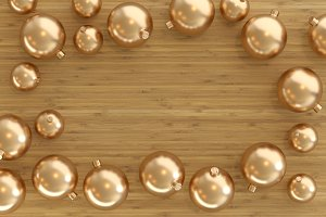 Collection of golden baubles