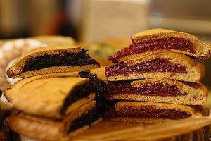 pastry vegan sweet cut fruit pie for