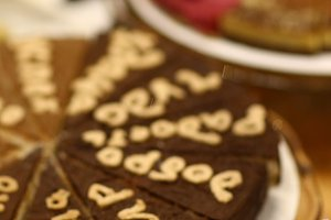 sweet vegan cheese cake pie close up