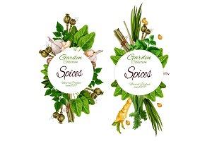 Organic spices and herbal seasonings