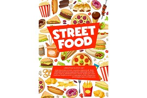 Street fastfood snacks and meals