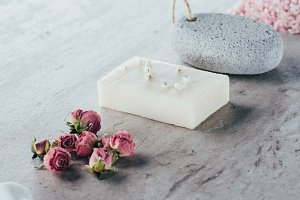 spa treatment, dried roses, natural