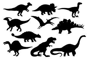 Dinosaurs and T-rex monster reptiles