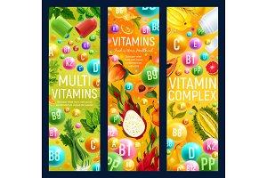 Vitamins in fruits and veggies