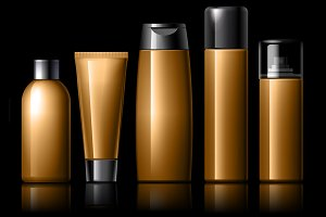 Cosmetic package collection for crea