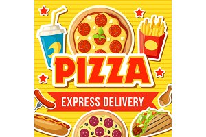 Pizza and fast food snacks delivery