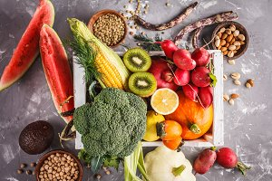 Fruits, vegetables and cereals