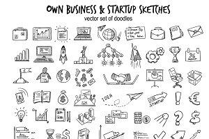 Sketch Business Startup Elements Set