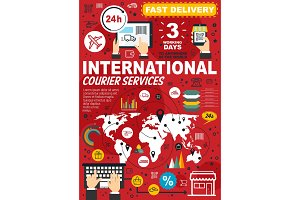 Courier and delivery infographics