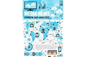 Media, public opinion infographics