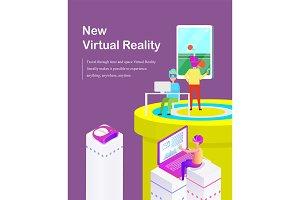 New Virtual Reality Cartoon Banner