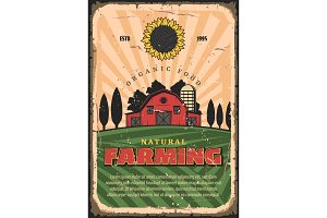 Farming agriculture and organic food