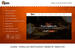 Ojeen - Restaurant HTML Website Temp