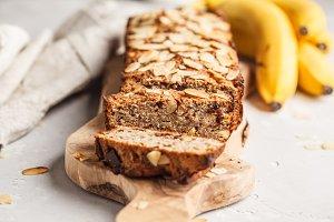 Homemade vegan banana bread