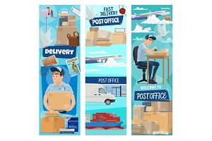 Post mail delivery, working postman