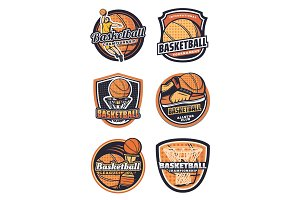 Basketball sport team vector badges