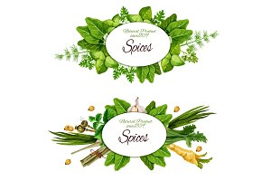 Natural herbal spices and herbs