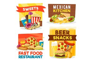 Fast food restaurant snacks and bar