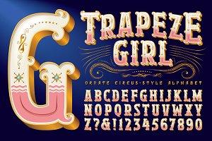 Trapeze Girl&#x3B; Circus-Style Alphabet