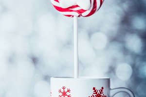 Cup with snowflakes