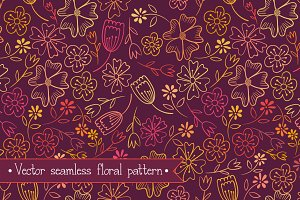 vector floral pattern-seamless