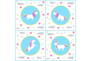 Unicorns Design of Mythological
