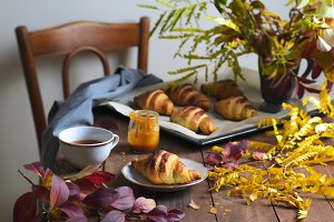 Cozy Autumn Still Life, Freshly Bake