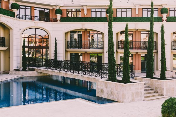 Architecture Stock Photos - residential complex with  pool