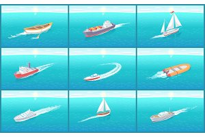 Water Transport Travel Means Boats