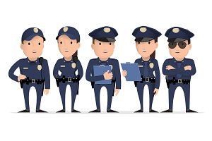 police character. Set of different