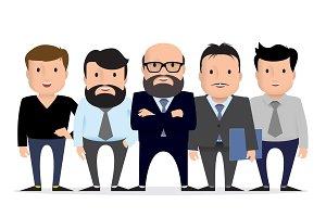 Business team - group businessman