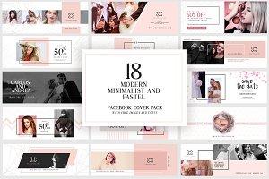Modern Pastel Facebook Cover Pack