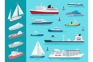 Water Transport Ships Traveling