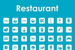 restaurant simple icons