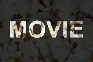 delicious popcorn background