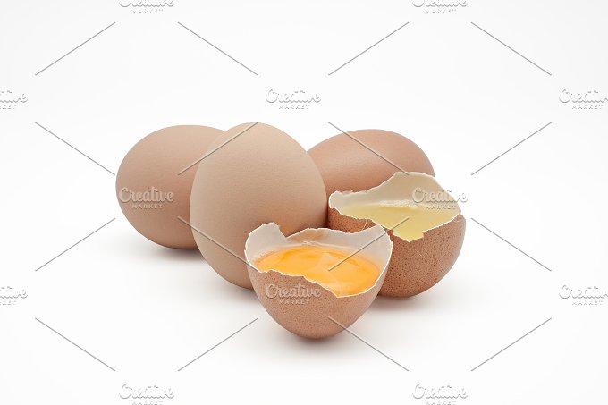 Broken egg. Egg white and yolk - Food & Drink