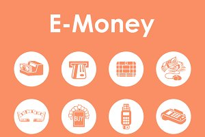 e-money simple icons