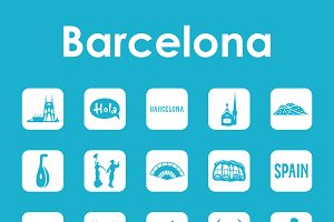 Barcelona simple icons