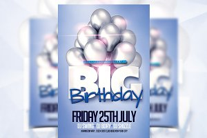 Big Birthday - Flyer Template