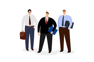 Businessmen icon set isolated on