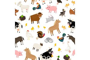 Farm animals pattern