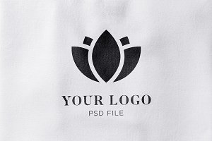 Fabric Effect Logo Mockup