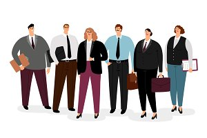 Business people in formal clothing